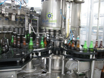 Full Automatic Beer Filling Machine With Rotary / Linear Structure For Glass Bottle