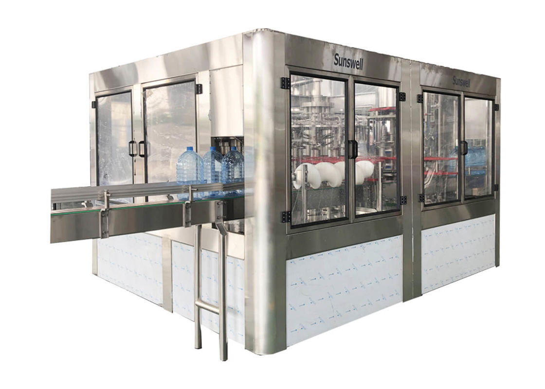 Full Auto 3-15L Jar Water Filling Machines With Washing And Capping Function