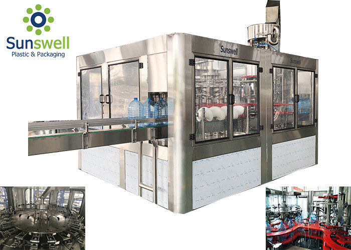 Fully Automatic Water Filling Machines 5 Gallon Barrel / Bottle Washing Capping
