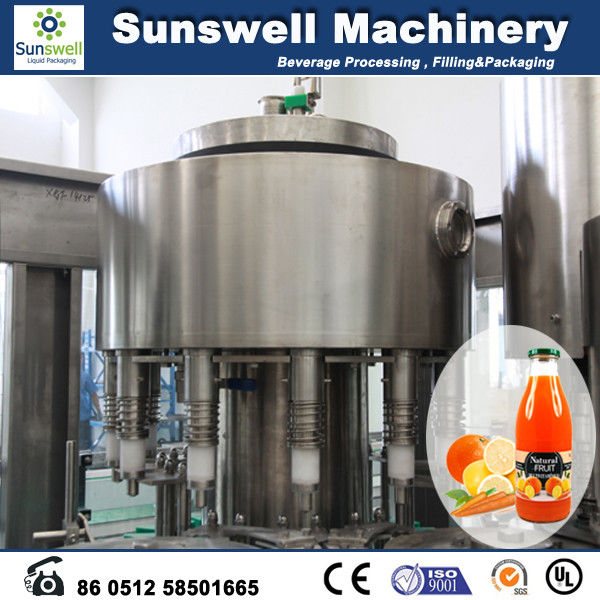 Stainless Steel Hot Filling Machine Automatic For Orange Juice