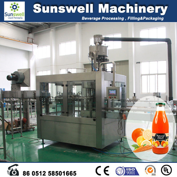 Constant Pressure Hot Filling Machine , 3 In 1 Juice Production Line