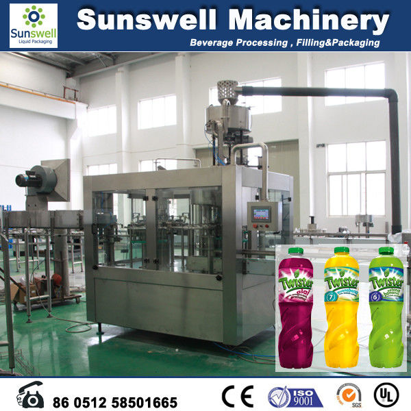 3-In-1 Hot Filling Machine , Stainless Steel Juice Filling Machine
