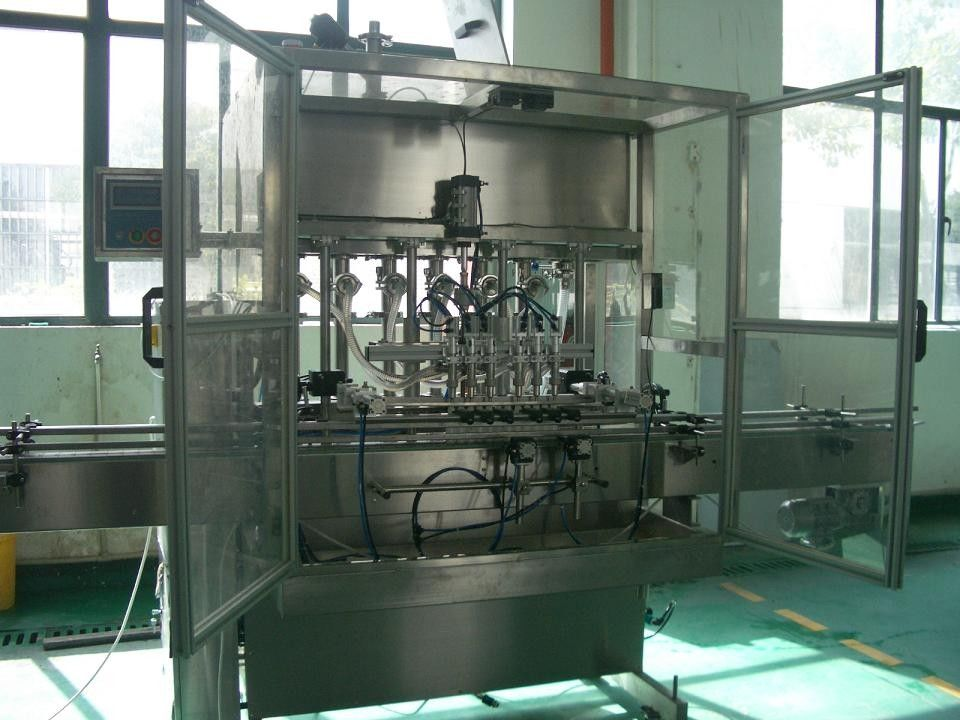 Automatic Liquid  Piston Filling Machine for Bottling of cosmetics, food, thick cream, oil nhà cung cấp